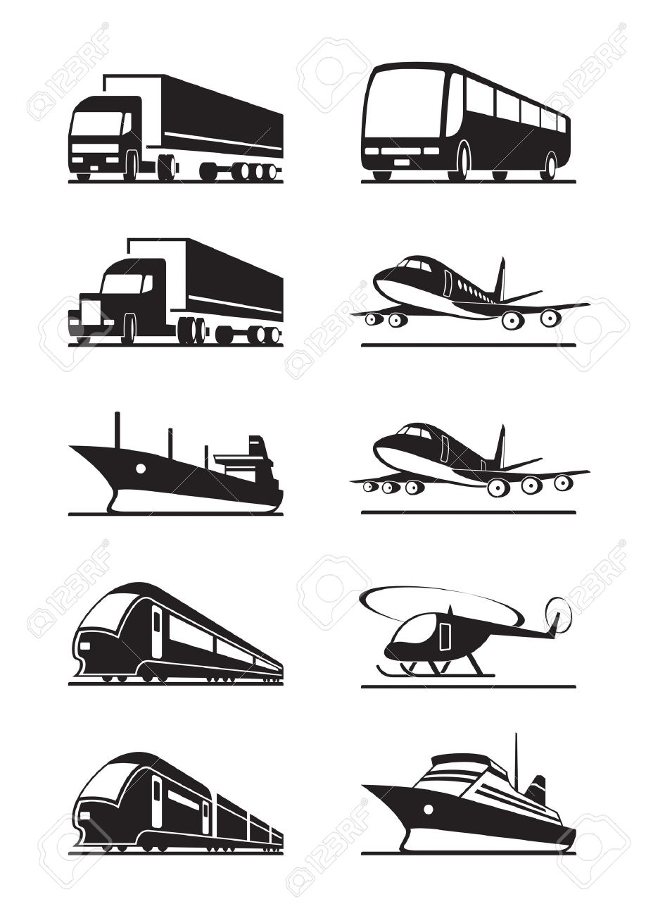 Passenger and cargo transportations Stock Vector - 15073628