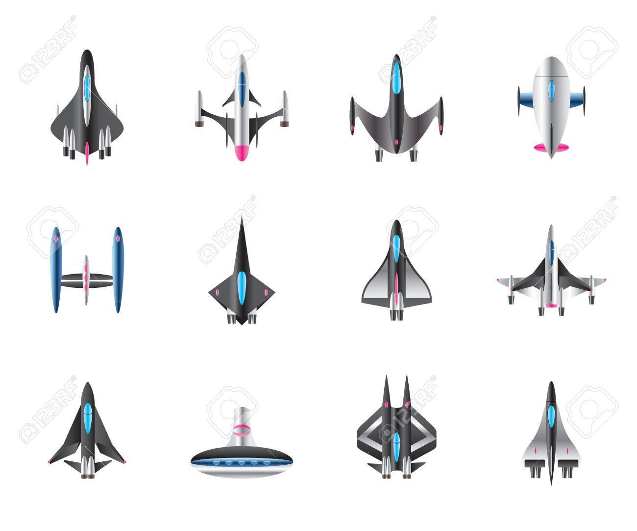 別の宇宙船飛行 ベクトル イラストのイラスト素材ベクタ Image