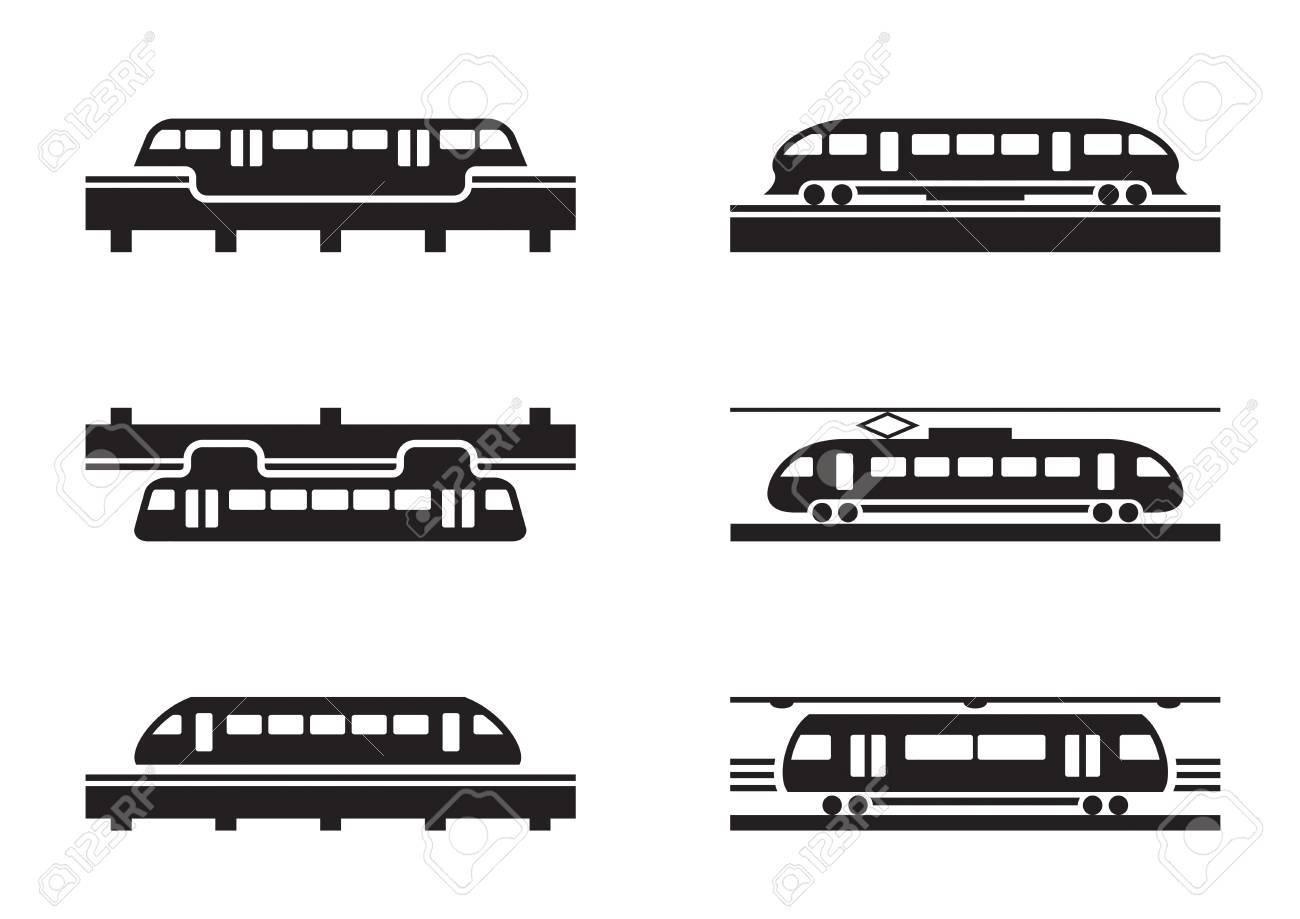 High-speed rail trains Stock Vector - 22028301