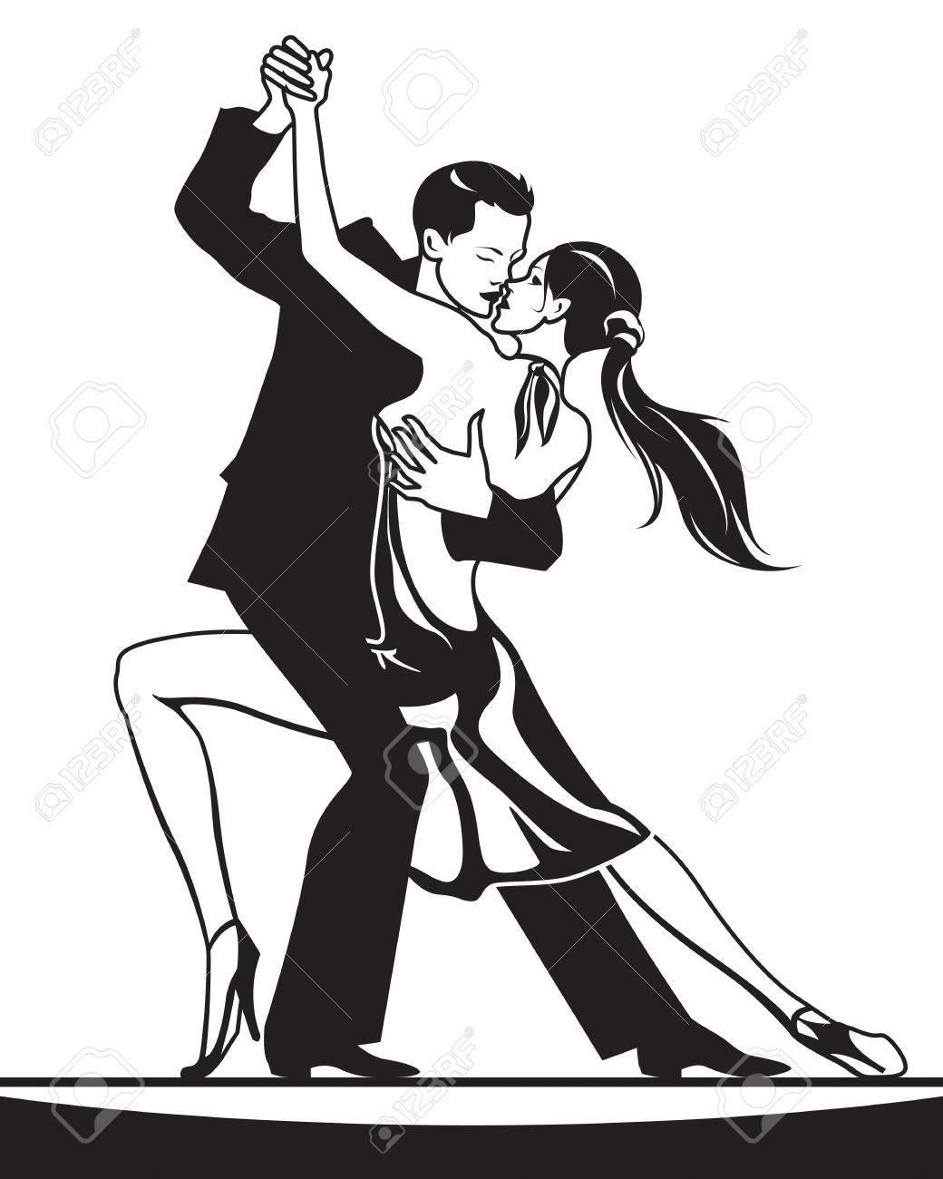 社交ダンスのダンサーのペア ベクトル イラストのイラスト素材ベクタ