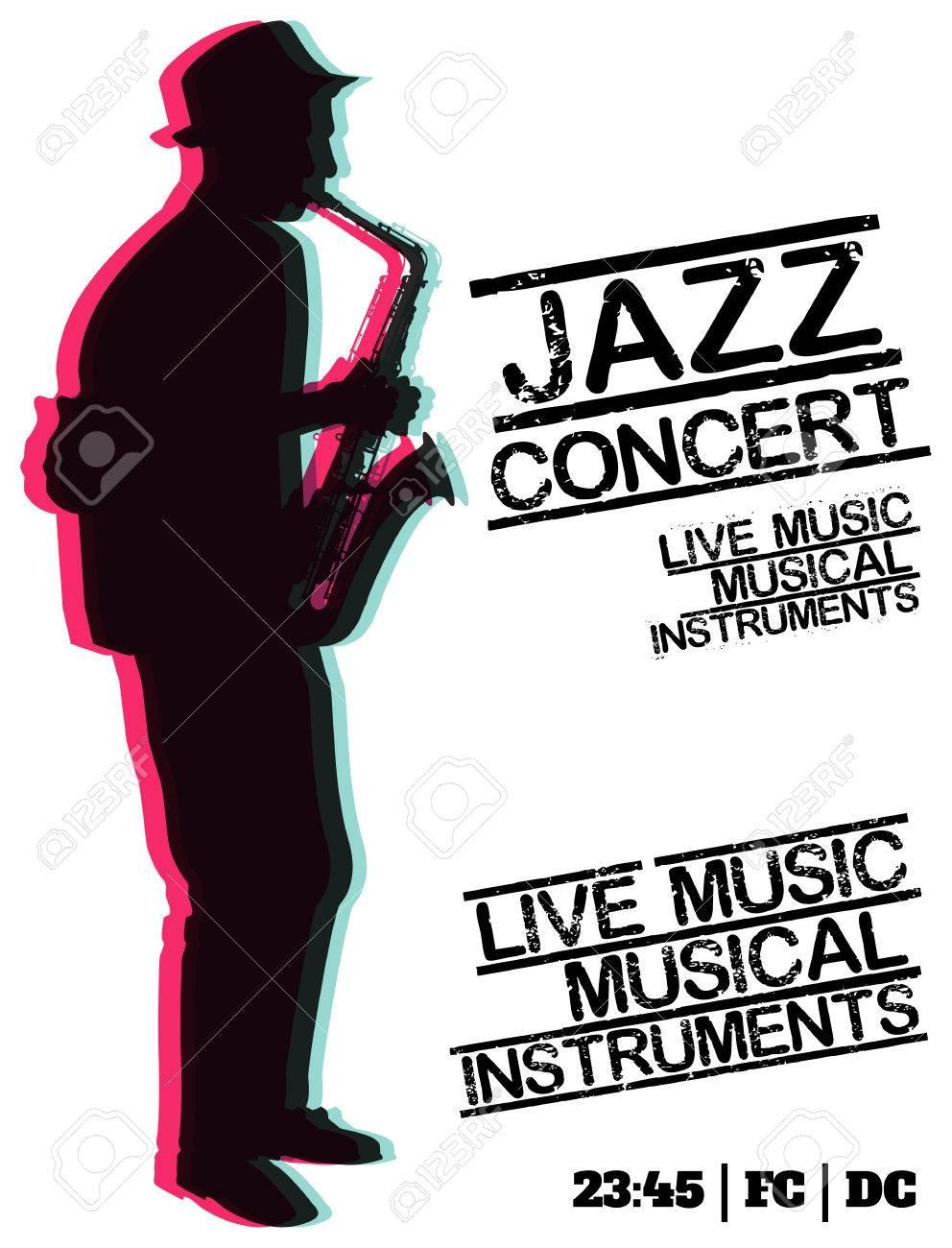 Affiche Concert jazz blues concert, modèle affiche de fond. vector conception