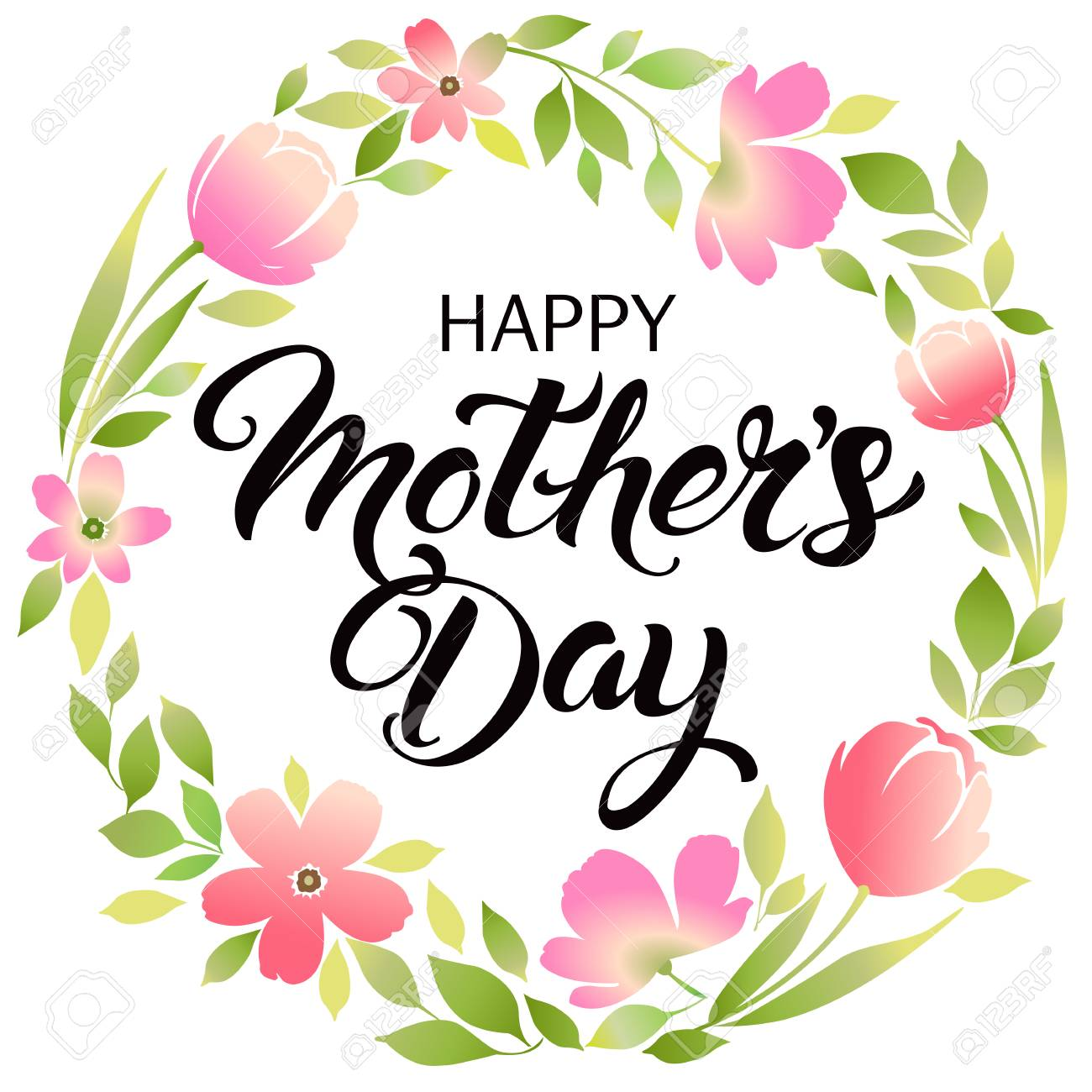 Happy mothers day lettering mothers day greeting card royalty free happy mothers day lettering mothers day greeting card stock vector 76890815 m4hsunfo