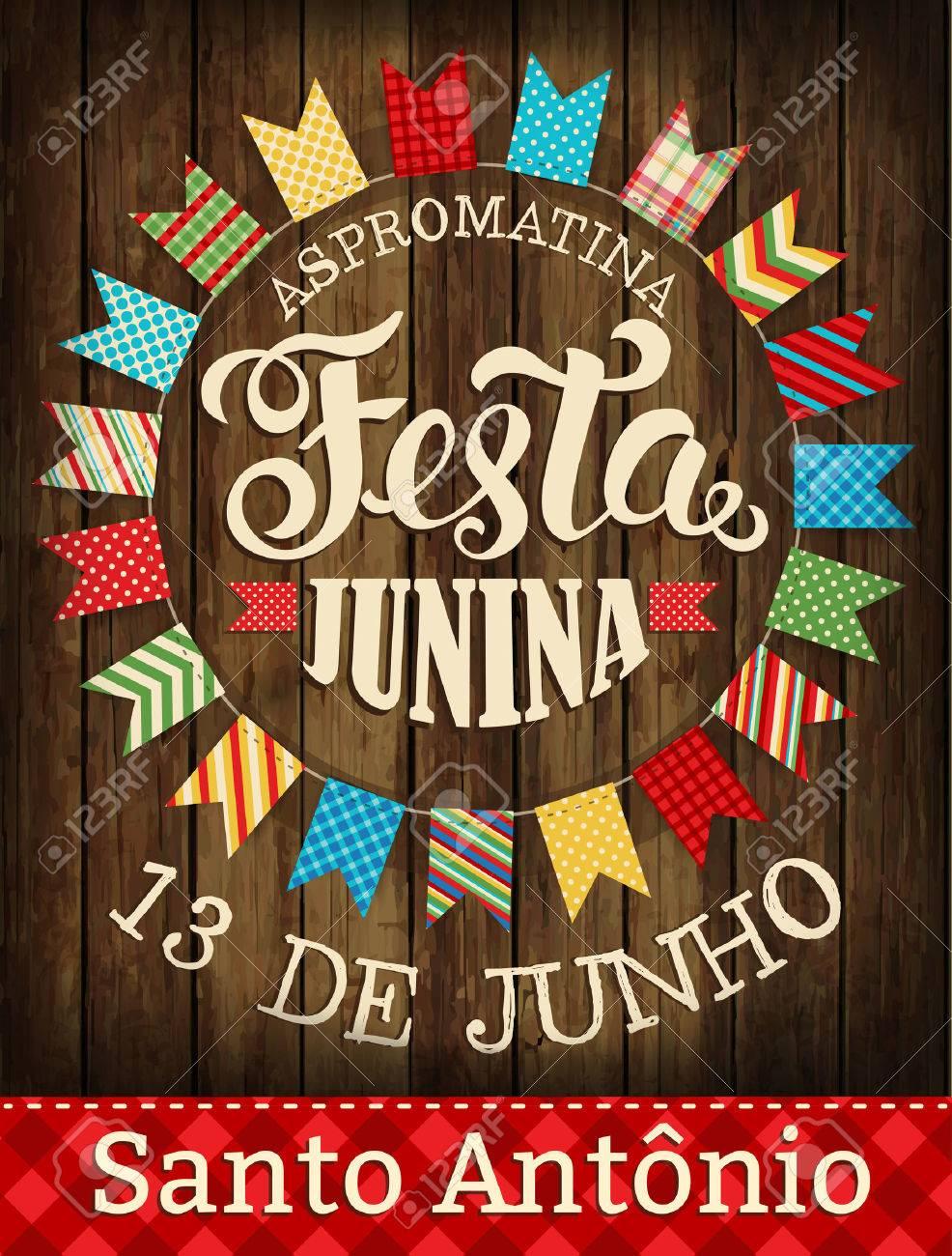 Festa Junina illustration traditional Brazil June festival party. Vector illustration. Poster. - 76968163