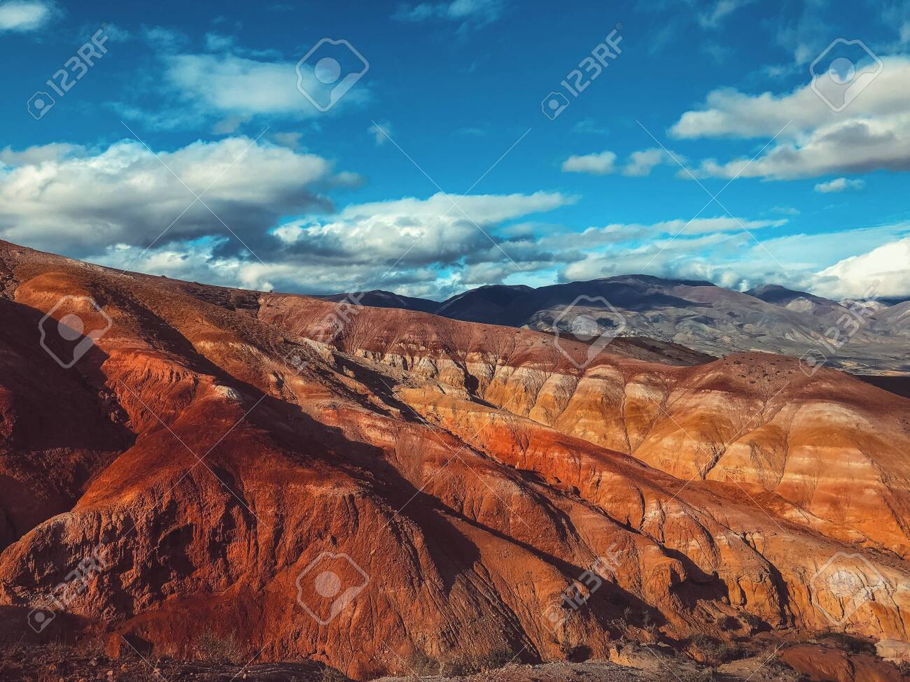 Summer landscape of red mountains. Mountain Mars - 117271924