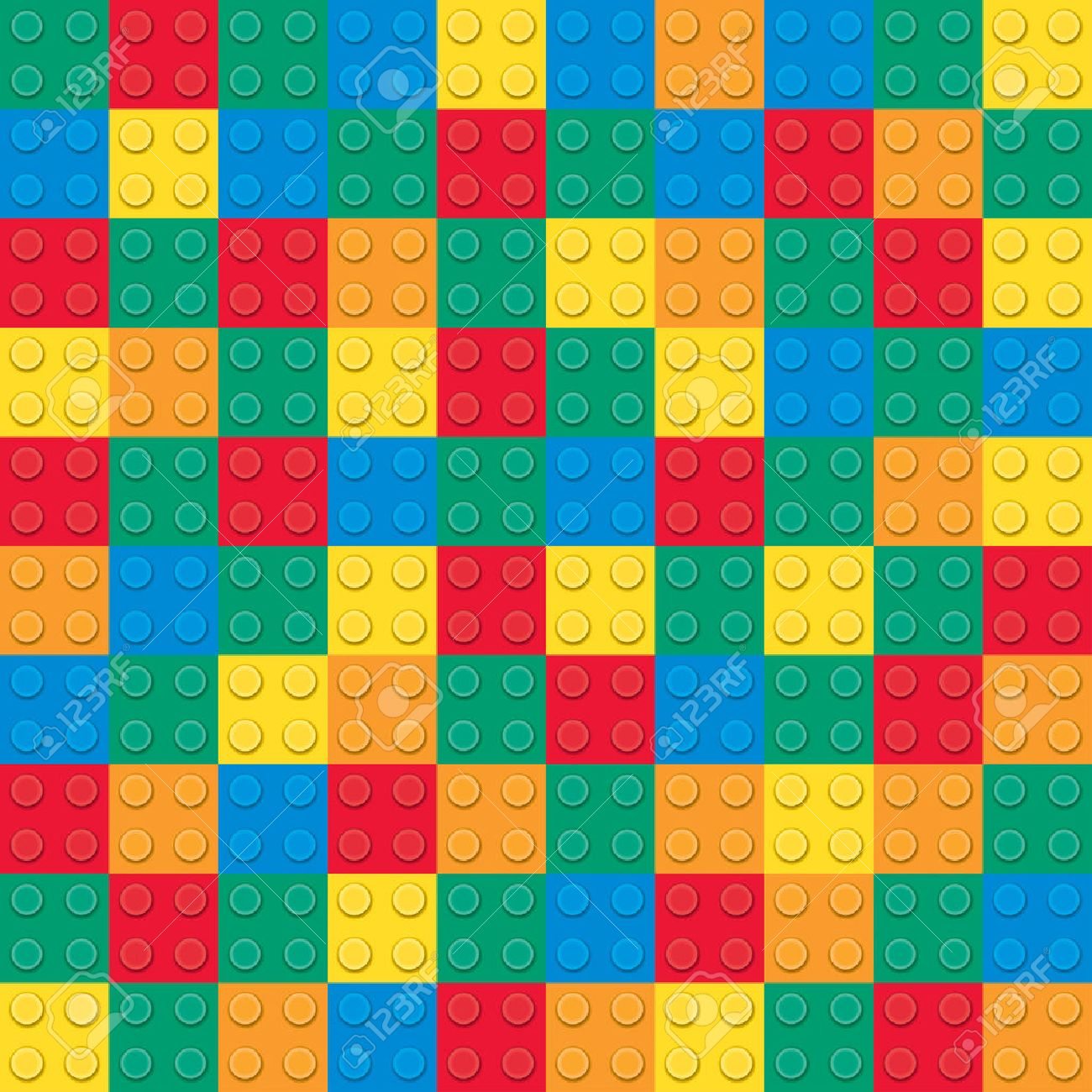 Building Toy Bricks. Seamless Pattern Royalty Free Cliparts ...