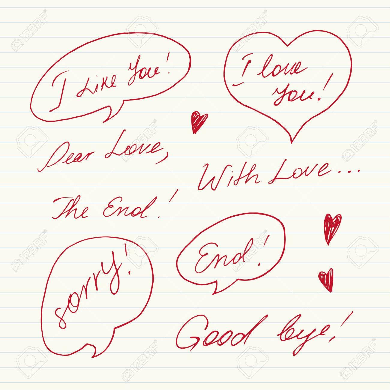 手書きの愛のメッセージ ロイヤ...