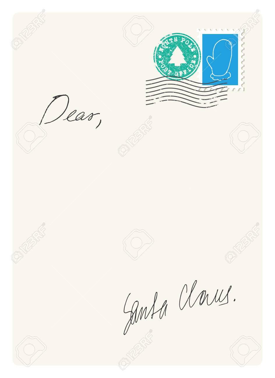 サンタからの手紙のイラスト素材ベクタ Image 47895450