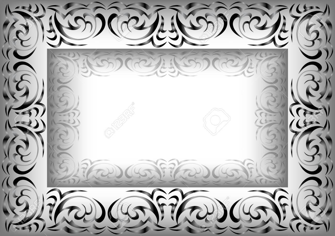 Ungewöhnlich Verzierter Weißer Bilderrahmen Zeitgenössisch - Rahmen ...