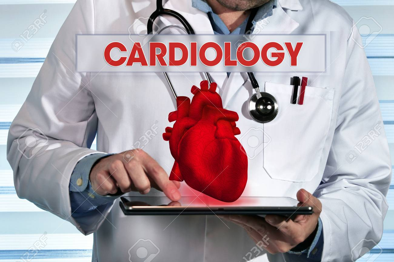 Doctor Specialist In Cardiology Holding Tablet / Cardiologist.. Stock  Photo, Picture And Royalty Free Image. Image 100286364.