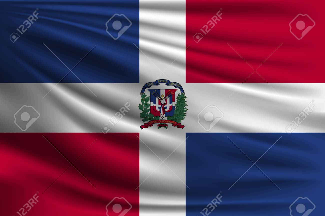 The National Flag Of Dominican Republic The Symbol Of The State