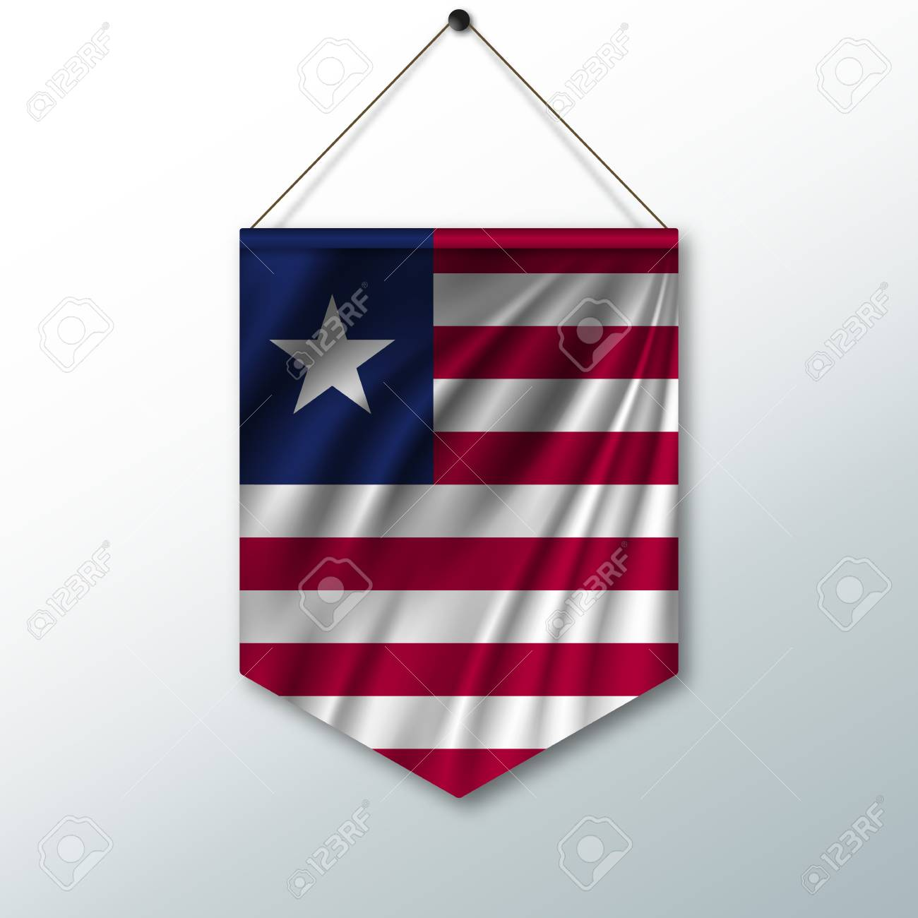 The National Flag Of Usa The Symbol Of The State In The Pennant