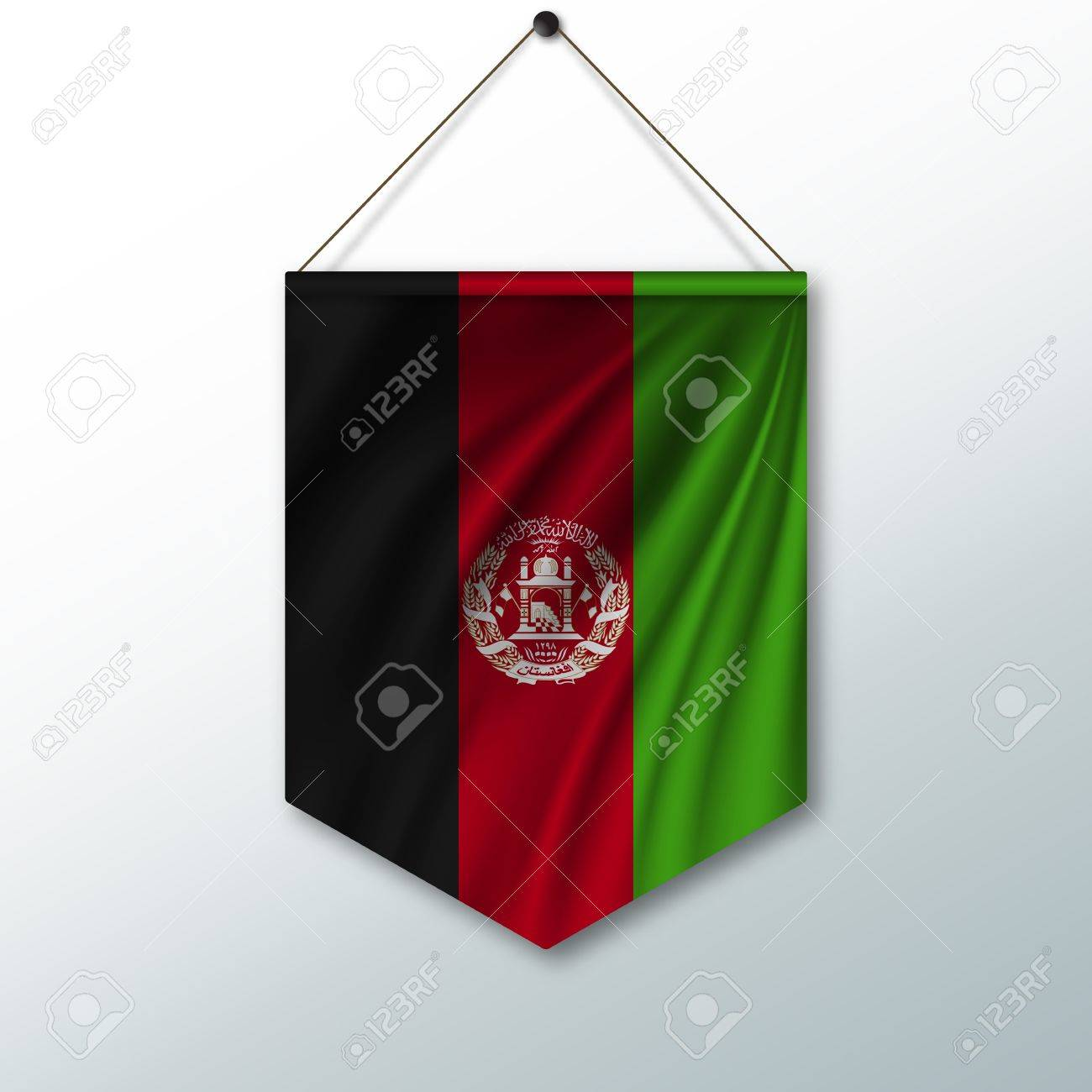 The National Flag Of Afghanistan The Symbol Of The State In