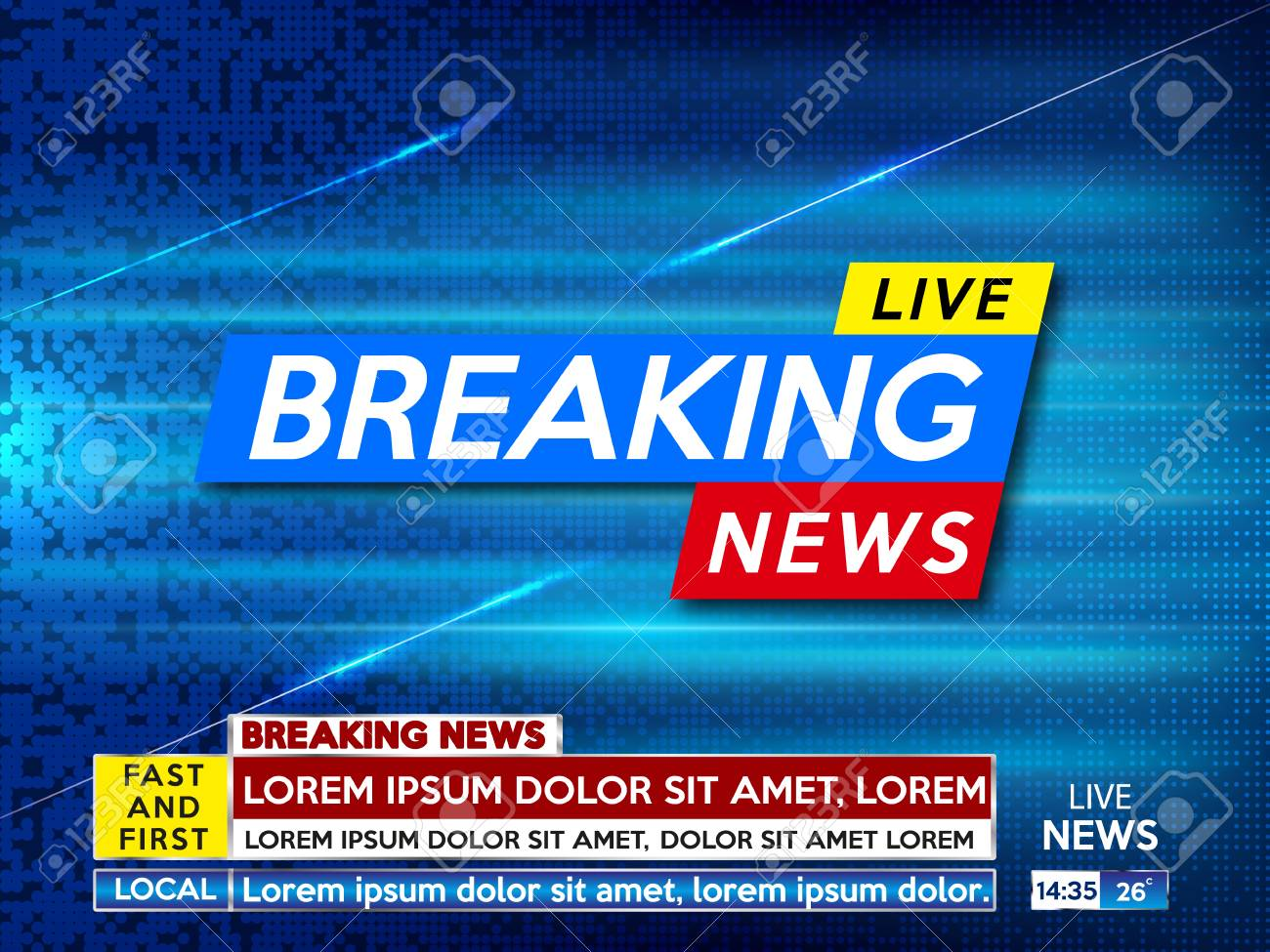 Background Screen Saver On Breaking News Live Blue Technology Stock