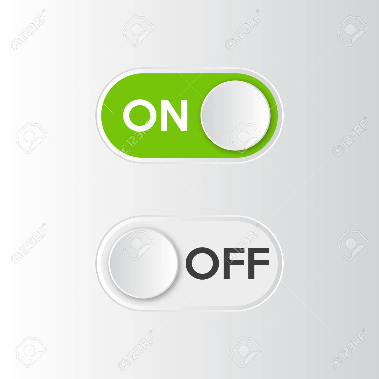 Toggle Button Icon On And Off Switch Vector Illustration Stock 1300x1300