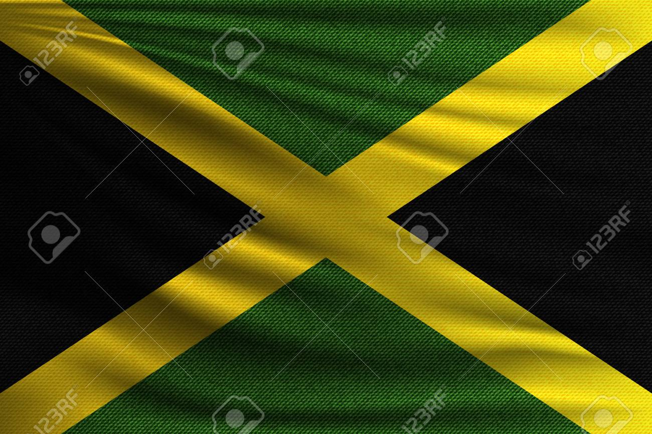 The National Flag Of Jamaica The Symbol Of The State On Wavy