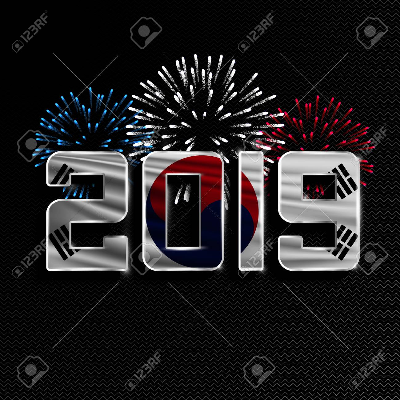Christmas In The South 2019 Happy New Year And Merry Christmas. 2019 New Year Background