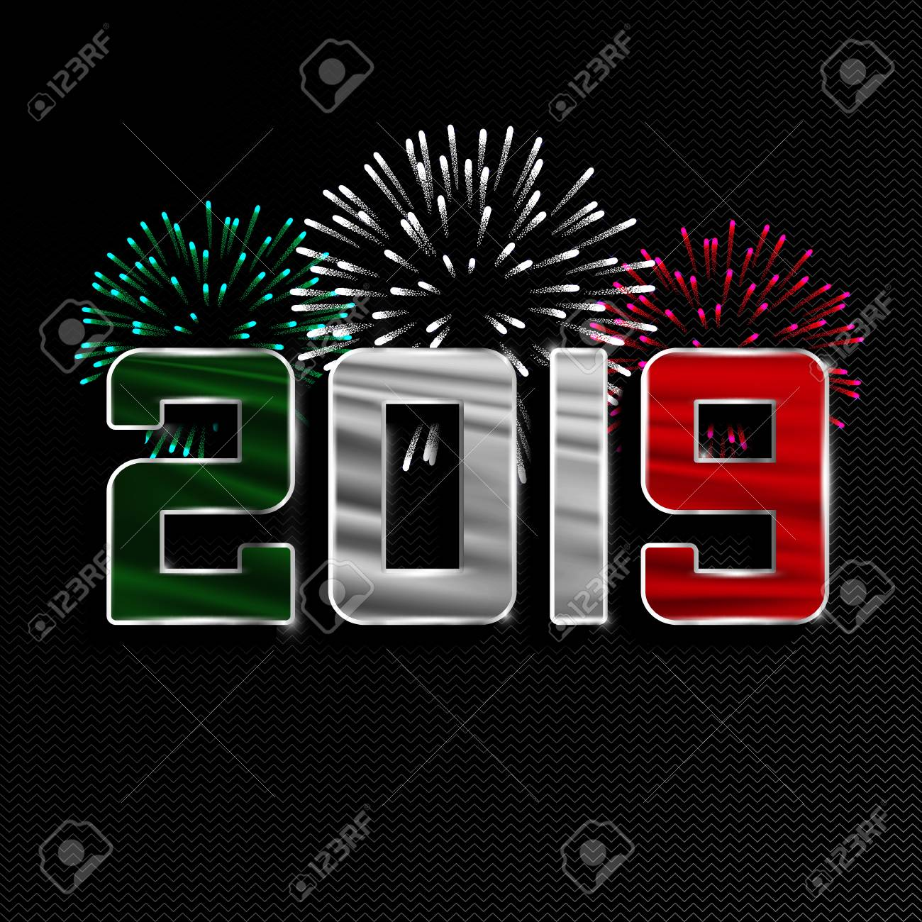 Christmas In Italy 2019.Happy New Year And Merry Christmas 2019 New Year Background
