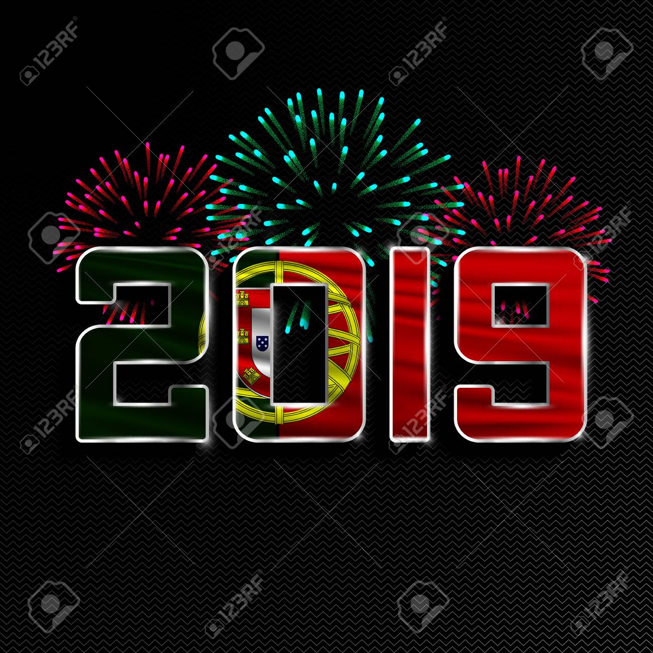 Christmas In Portugal 2019.Happy New Year And Merry Christmas 2019 New Year Background