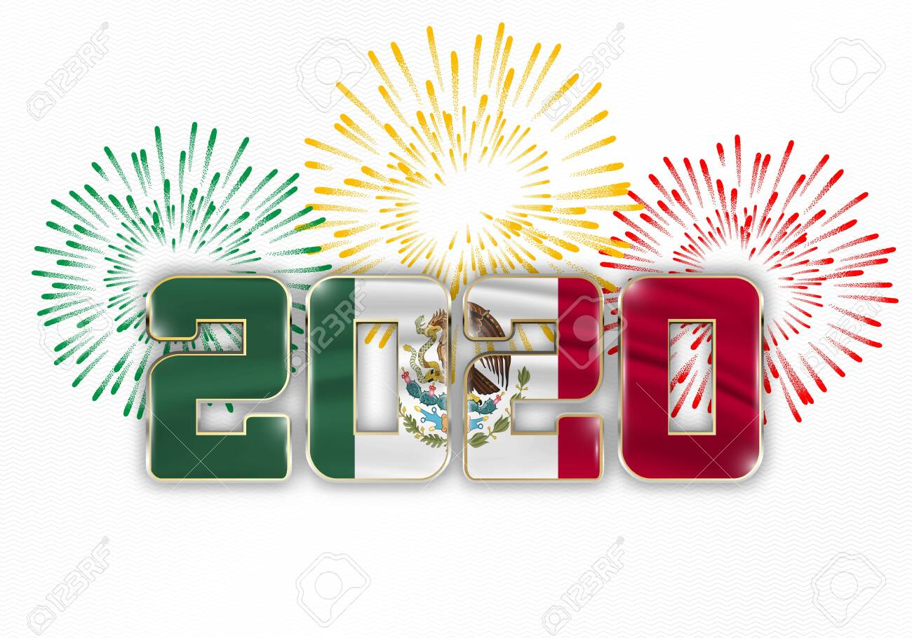 Mexico Christmas 2020 Happy New Year And Merry Christmas. 2020 New Year Background