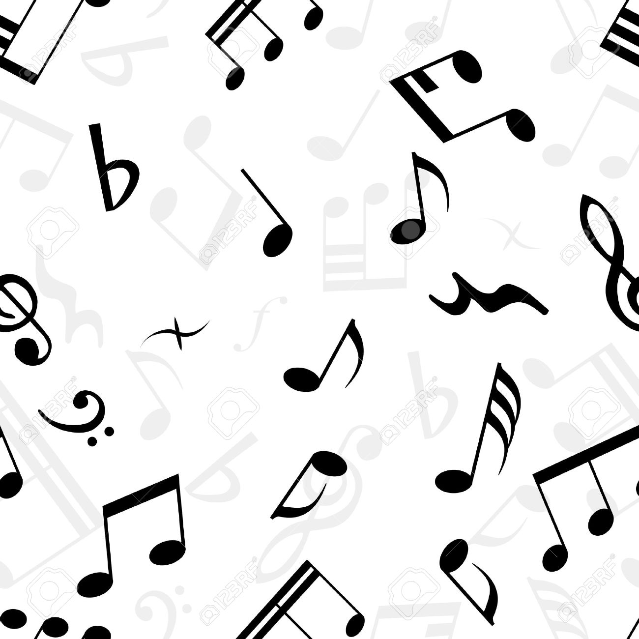 seamless musical notes texture for easy making seamless pattern rh 123rf com Music Notes Graphics Music Notes Vector Art Free
