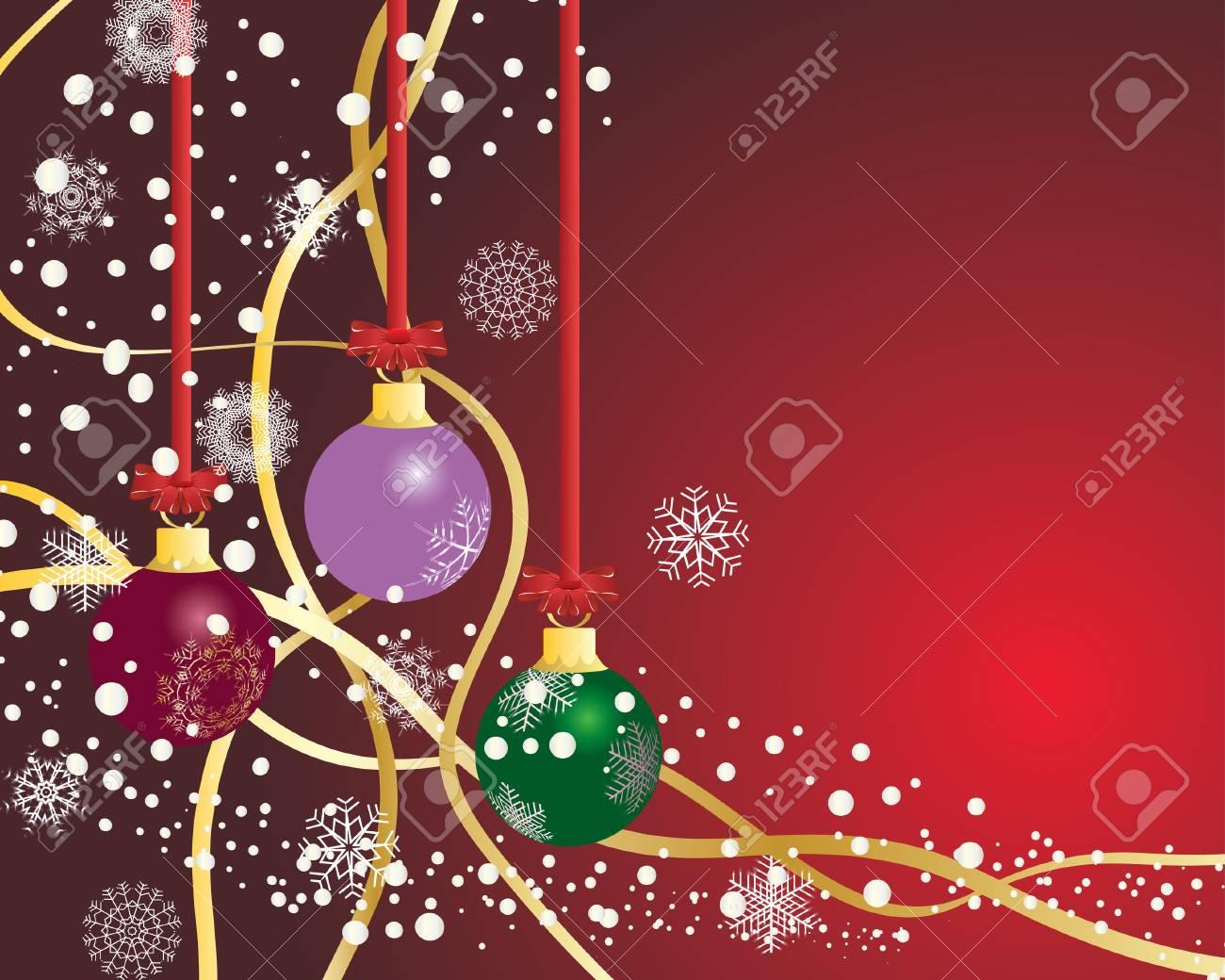 Christmas (New Year) postcard. Vector illustration. Stock Vector - 3858626