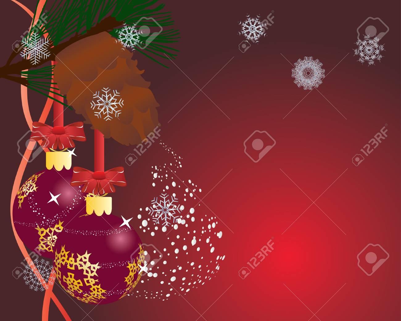 Christmas (New Year) postcard. Vector illustration. Stock Vector - 3886584