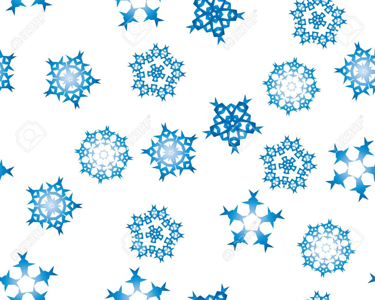 Seamless background with winter snowflakes for designer use Stock Vector - 3886583