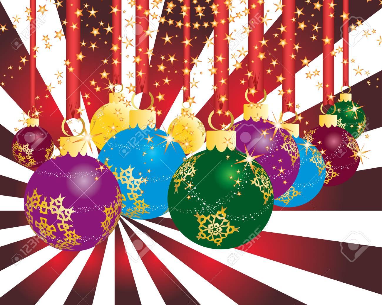 Christmas (New Year) greeting postcard. Vector illustration. Stock Vector - 3910350