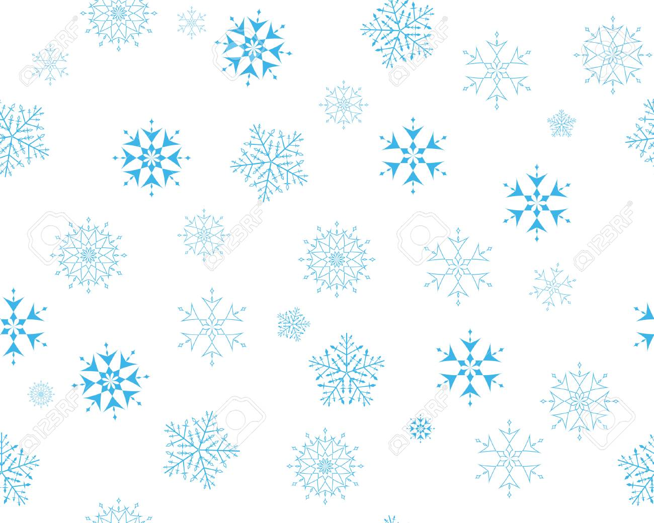 seamless vector snowflakes background in different shapes Stock Vector - 3966186
