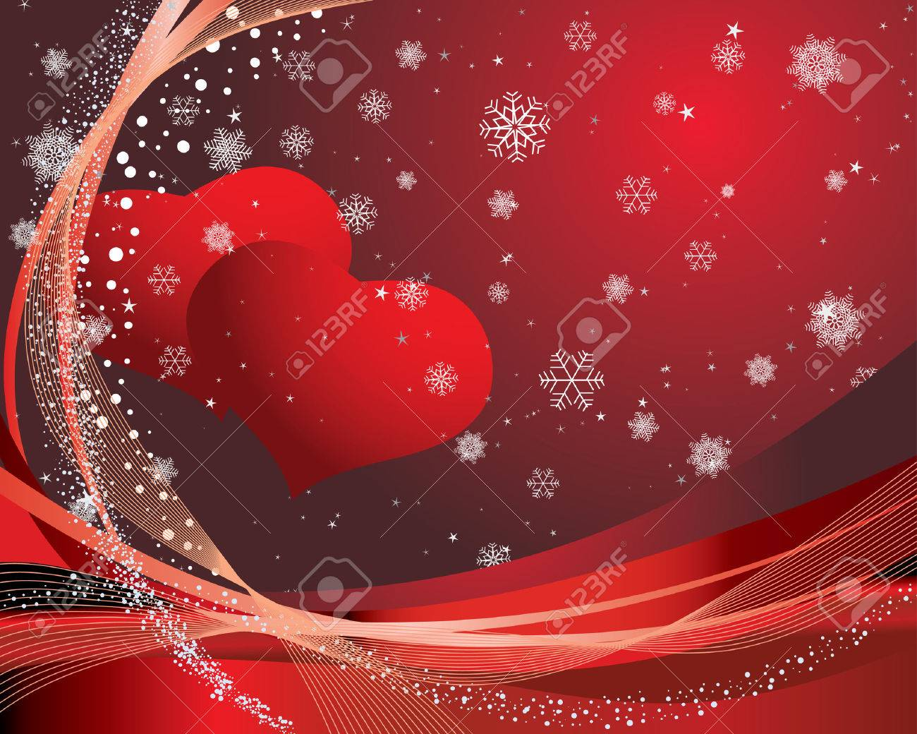 St Valentine Day Greeting Card With Hearts Royalty Free Cliparts – St Valentine Cards