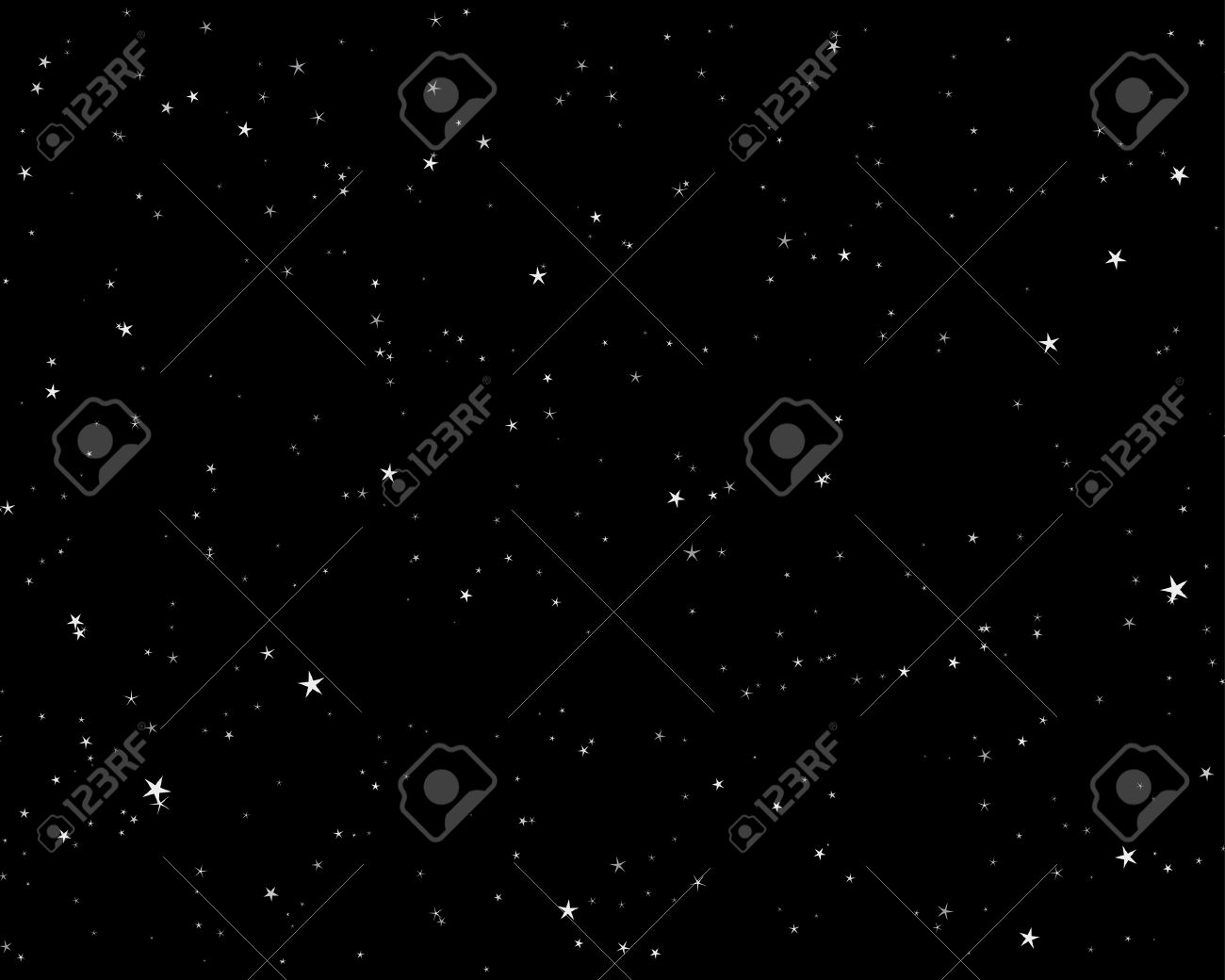 Beautiful night starry sky background . Vector illustration. Stock Vector - 4198436