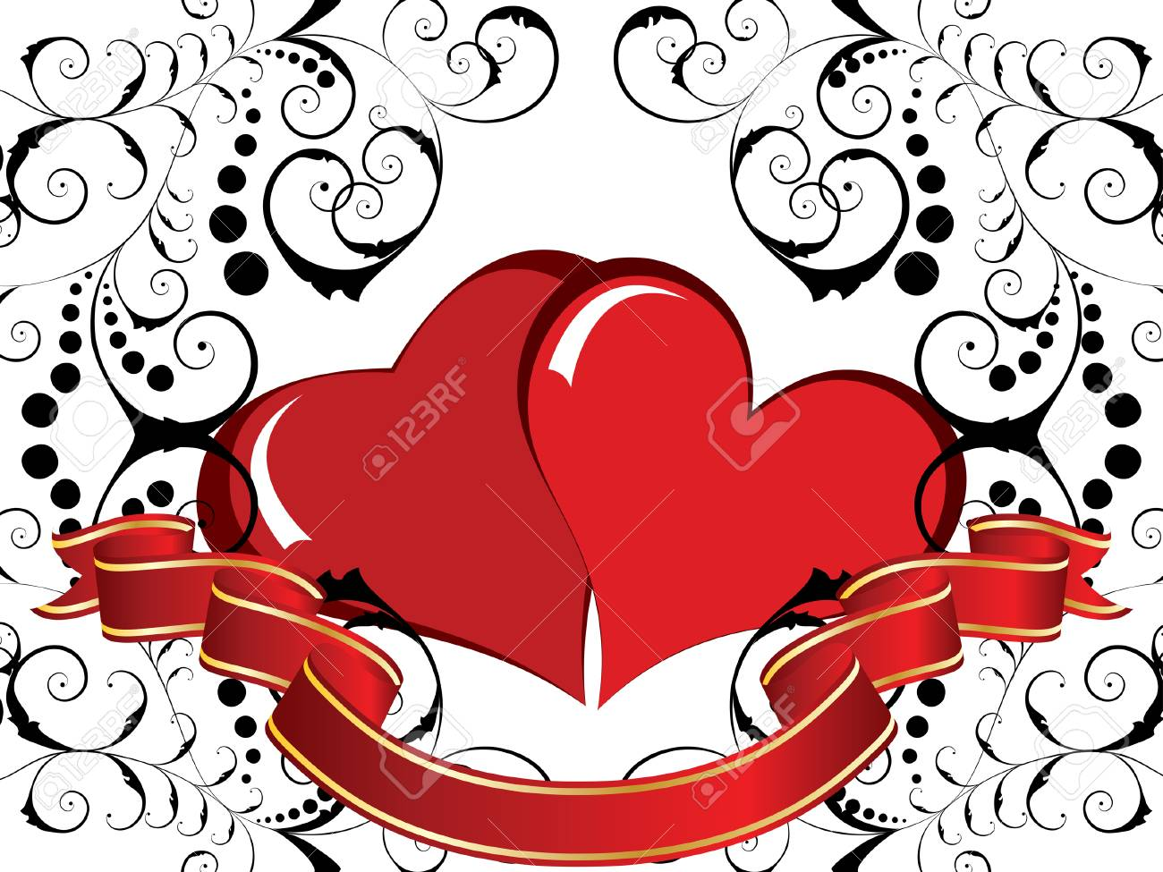 Abstract Valentine days background frame. Vector illustration. Stock Vector - 4272897