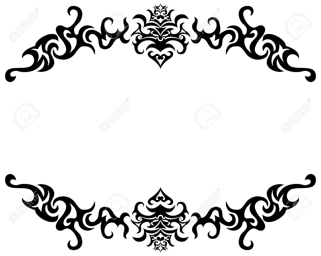 Abstract Gothic Vector Frame For Design Use Stock