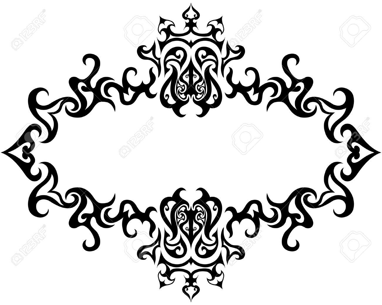 Abstract gothic vector frame for design use Stock Vector - 4284443