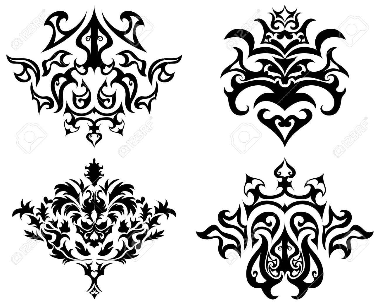 Abstract gothic emblem set for design use Stock Vector - 4455157