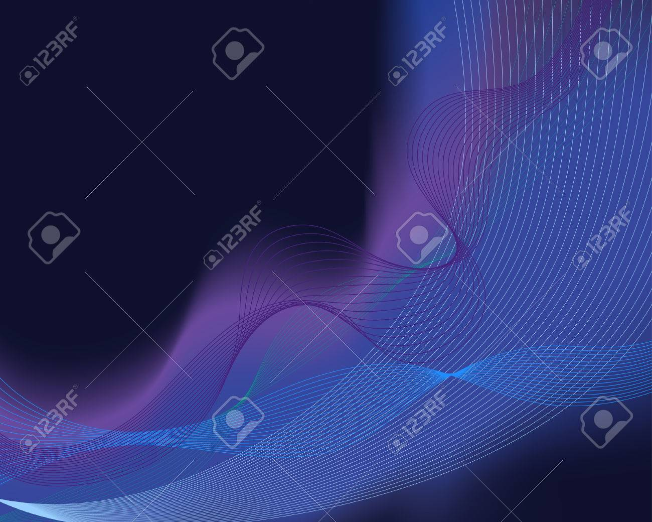 Abstract water vector background with neon glowing Stock Vector - 4501824