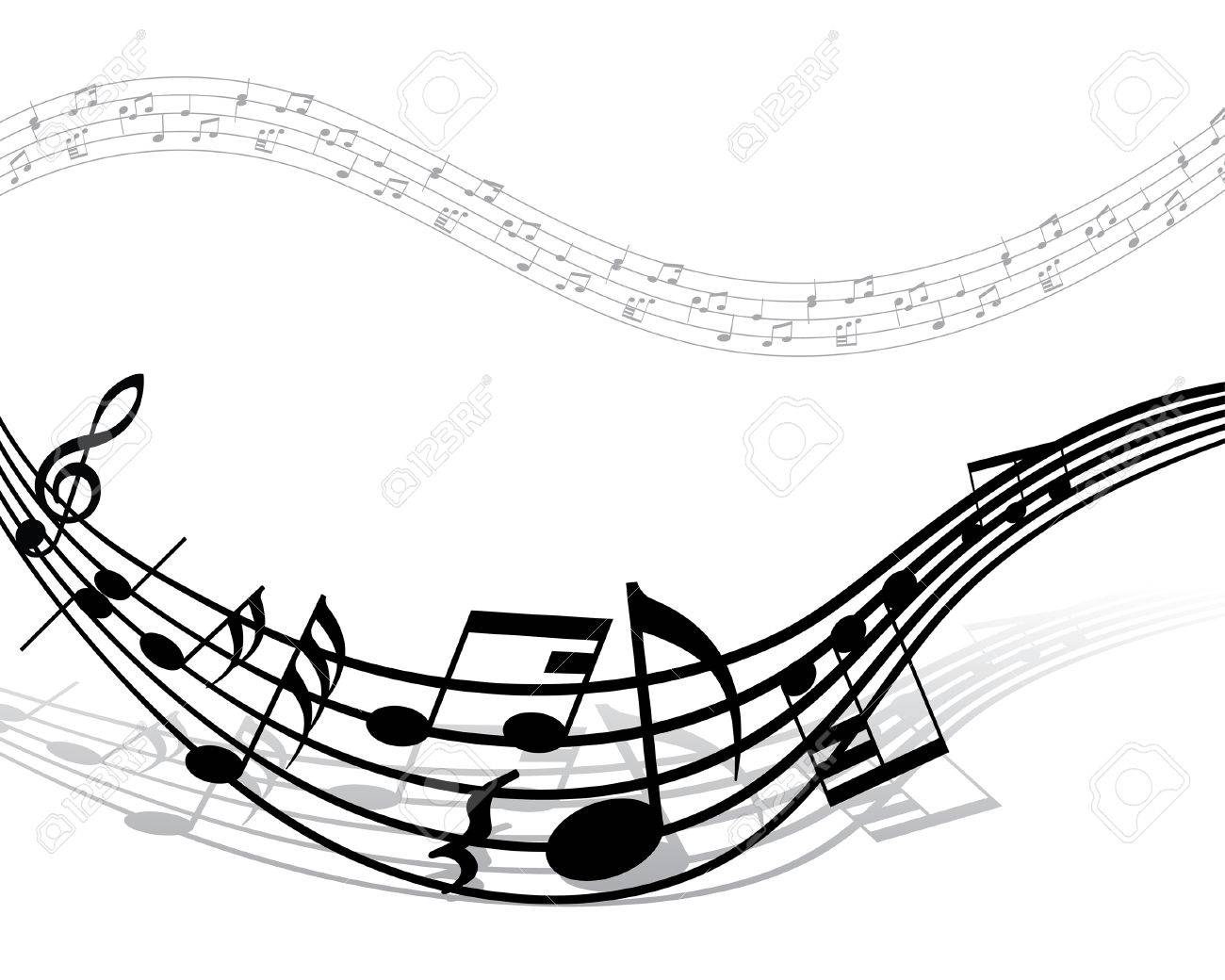 grunge vector musical notes background for design use royalty free rh 123rf com Single Music Notes Vector Colorful Music Notes