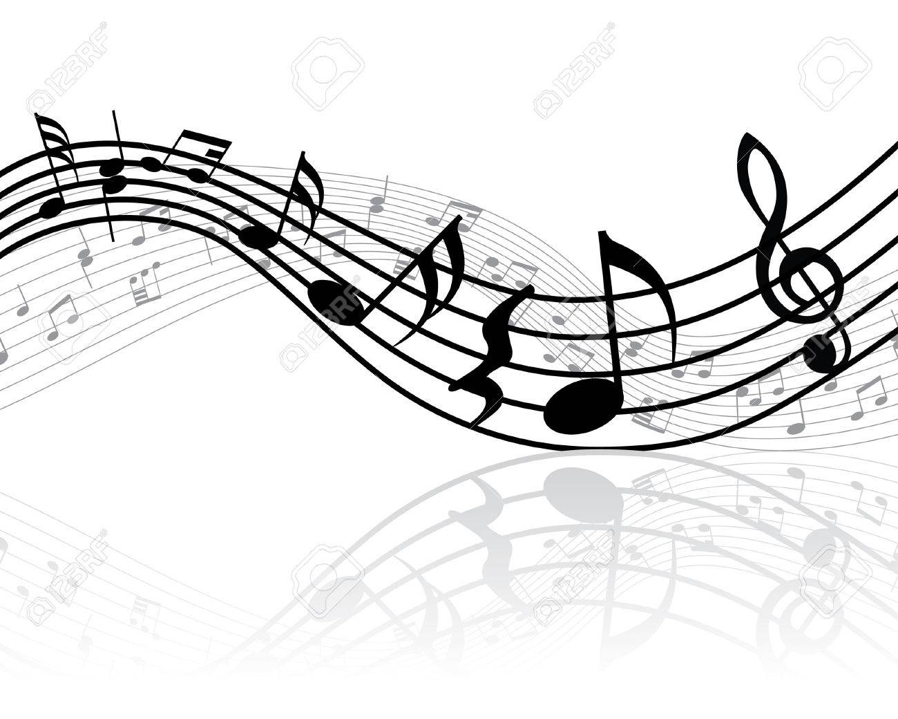 Grunge vector musical notes background for design use Stock Vector - 4616442