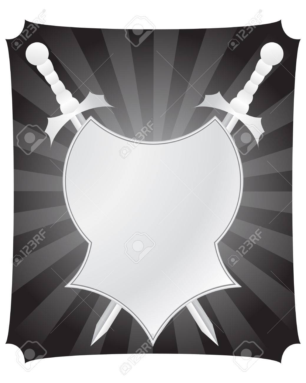 Medieval vtctor shield and swords for design use Stock Vector - 4813532