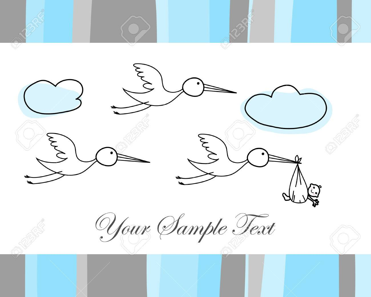 Hand drawn infant card for design use Stock Vector - 5175090