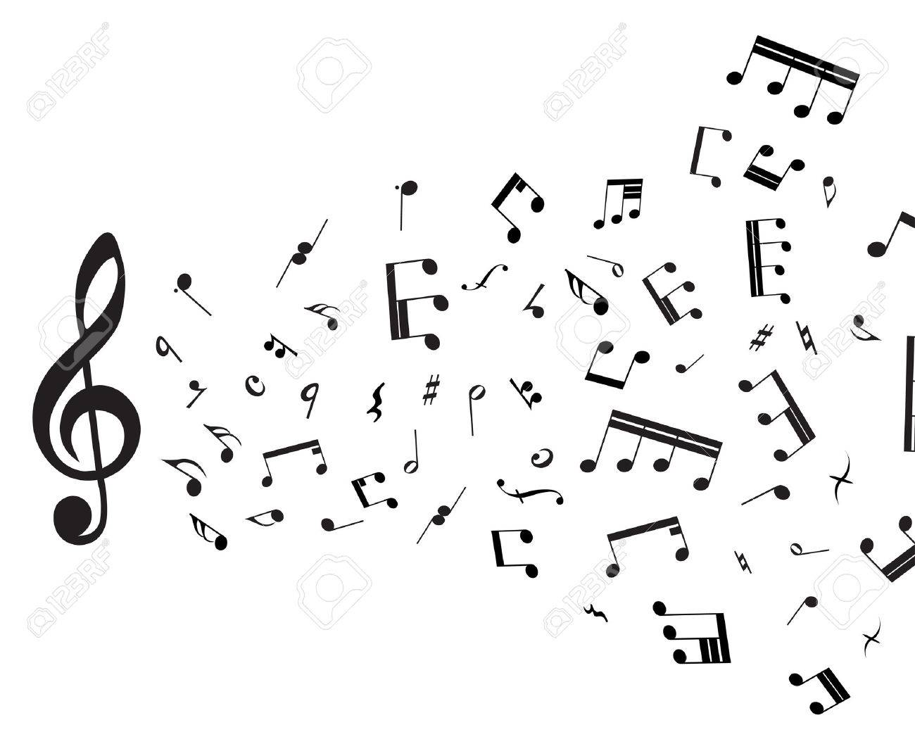 Musical notes staff theme for use in web design Stock Vector - 5212287