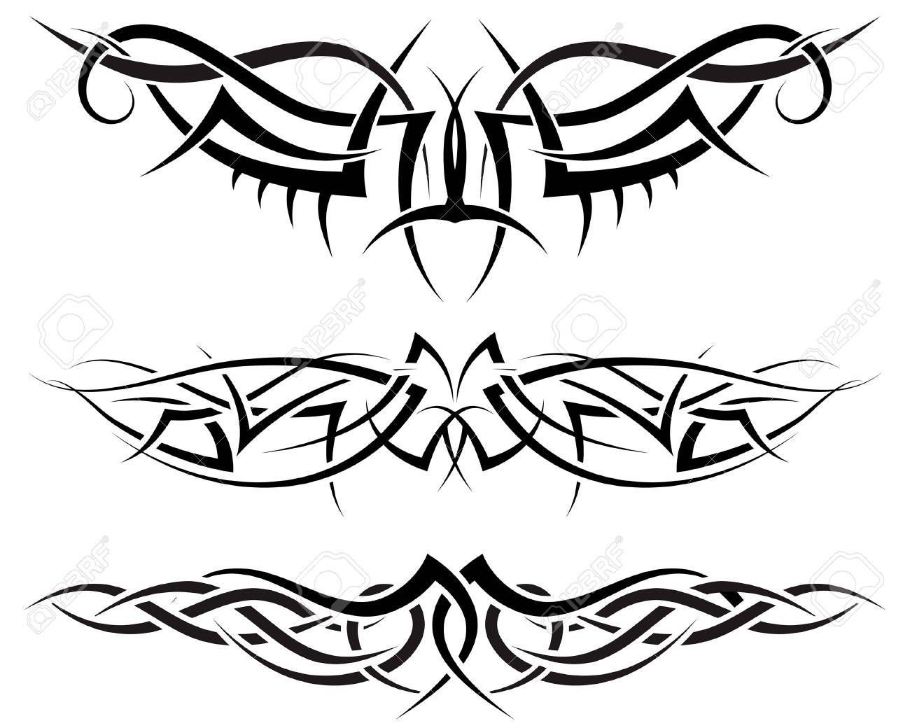 Patterns of tribal tattoo for design use Stock Vector - 5299565