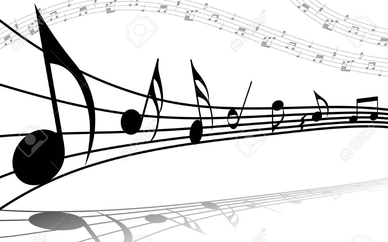 vector musical notes staff background for design use royalty free rh 123rf com Music Notes Music Notes Symbols