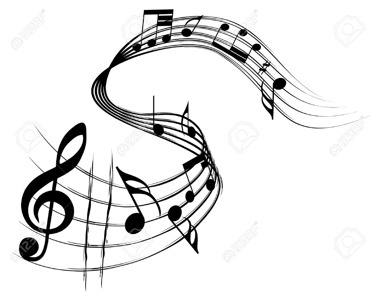 Vector musical notes staff background for design use Stock Vector - 5495396