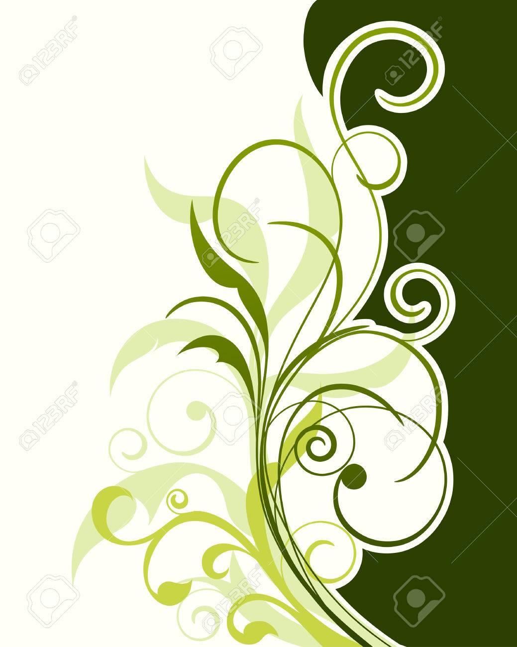 Floral background for design use. Vector illustration. Stock Vector - 5508511
