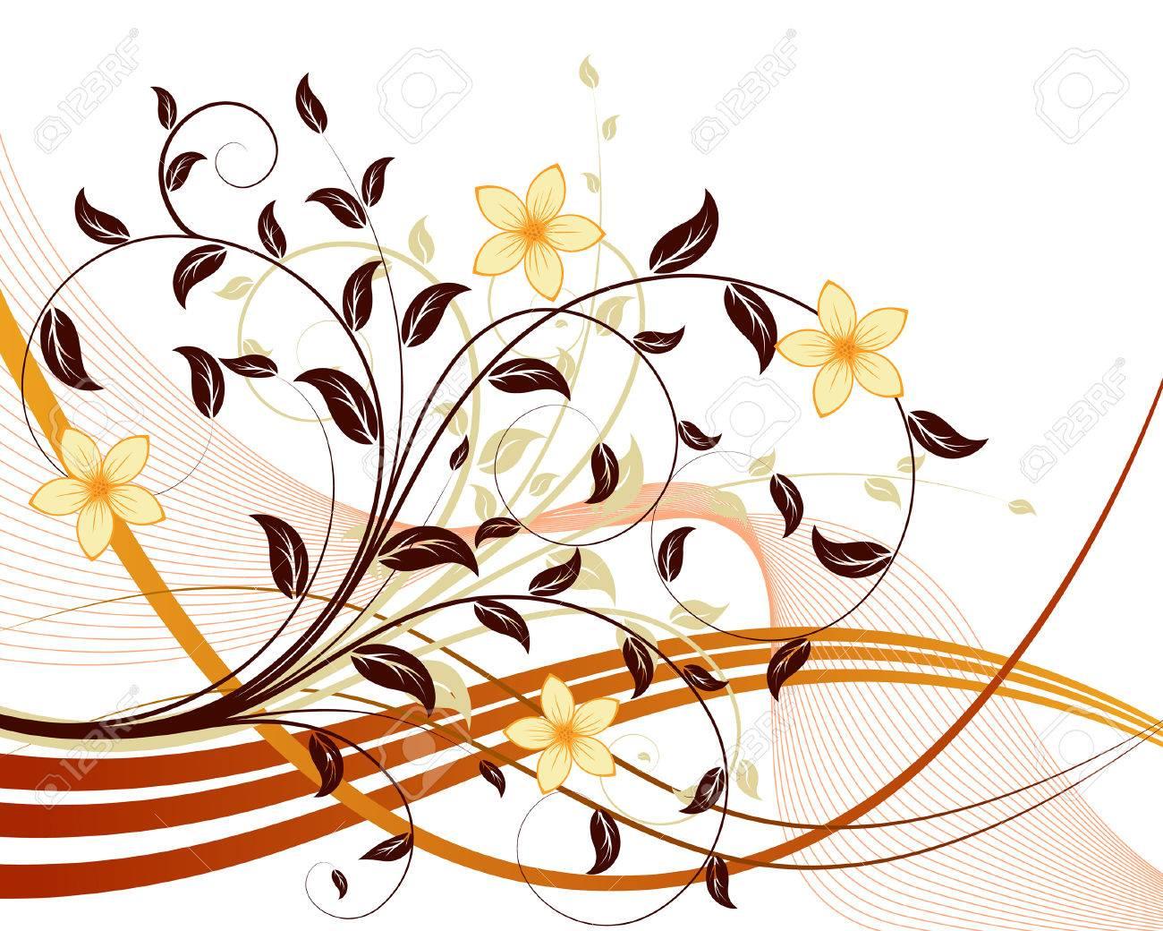 Floral background for design use. Vector illustration. Stock Vector - 5508518