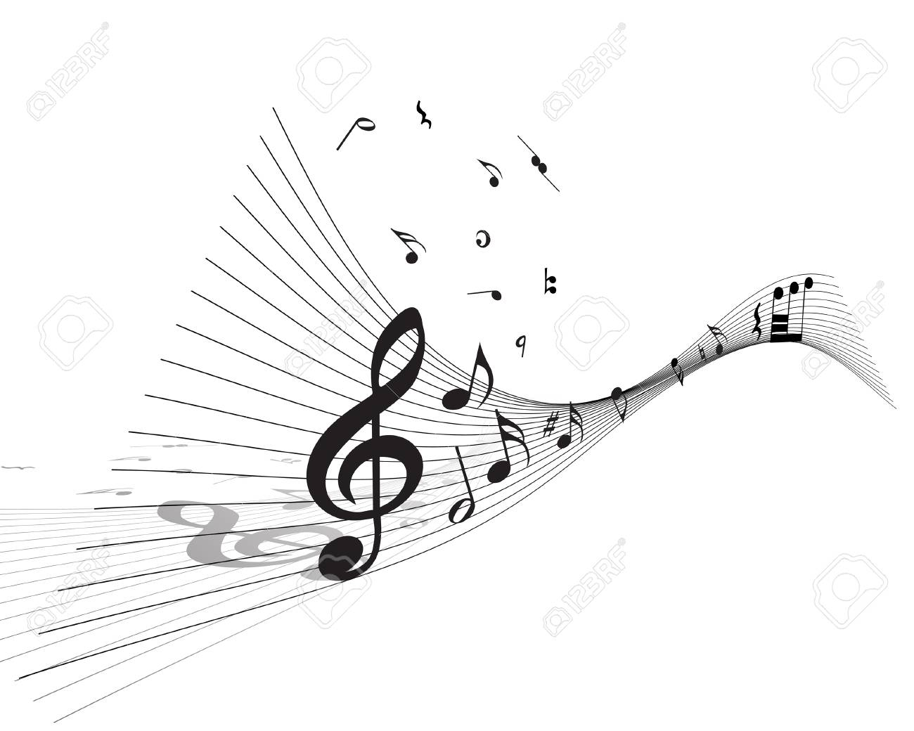 Vector musical notes staff background for design use Stock Vector - 5603122