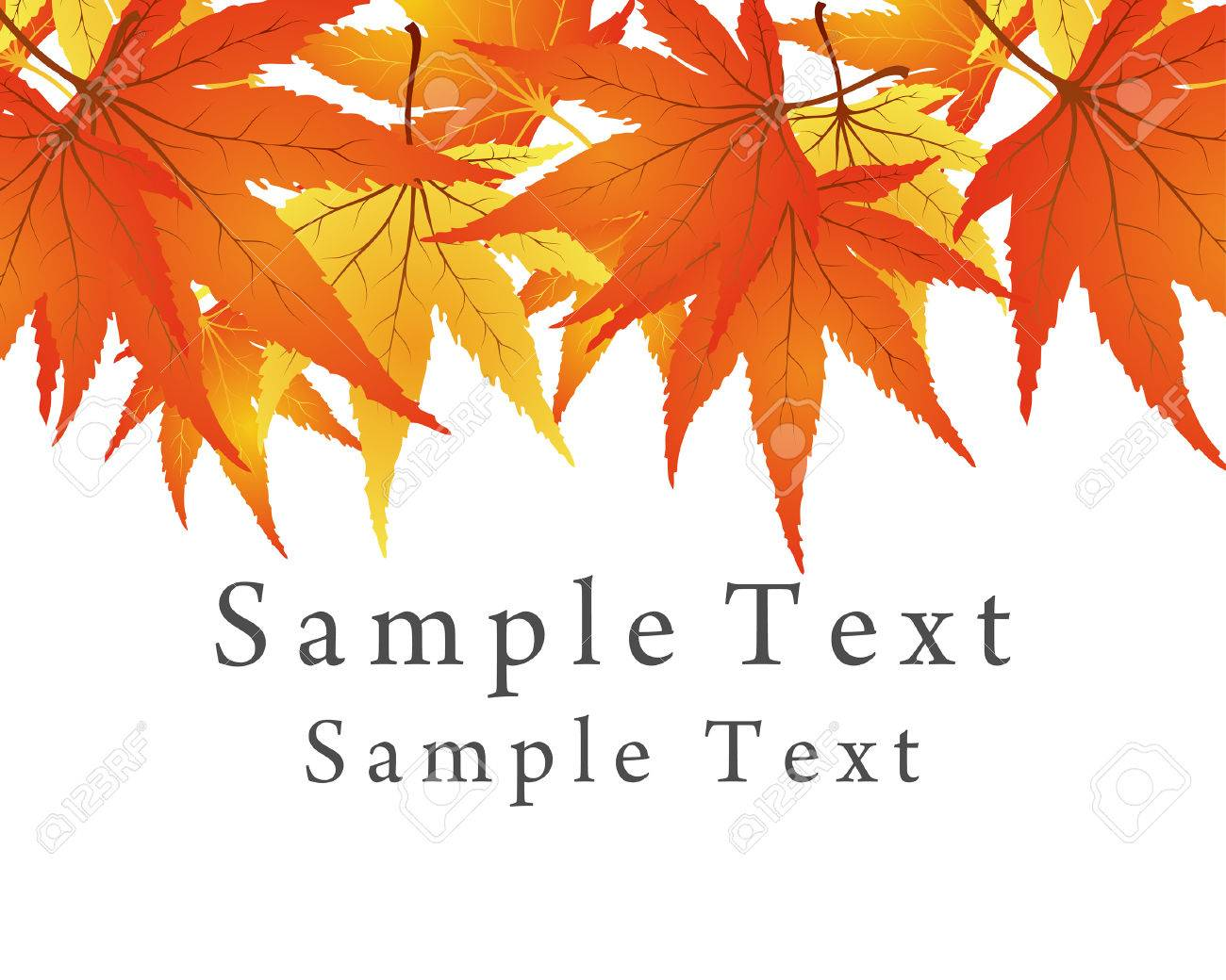 Backgroundframe from  maple  leaves. Vector illustration. Stock Vector - 5633064