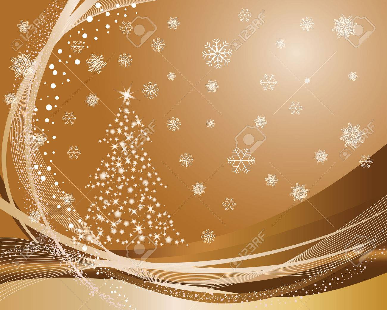 Beautiful vector christmas new year background for design use - Beautiful Vector Christmas New Year Background For Design Use Stock Vector 5634765