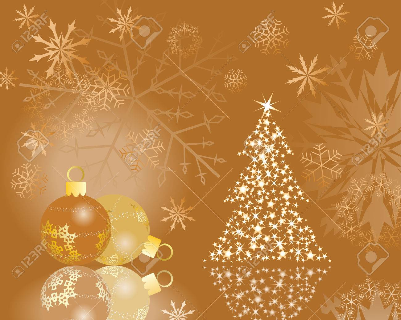 Beautiful vector christmas new year background for design use - Beautiful Vector Christmas New Year Background For Design Use Stock Vector 5657474